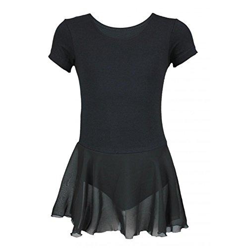 zarm Ballettanzug mit Chiffon Rock, Farbe: Schwarz, Größe: 134 ()
