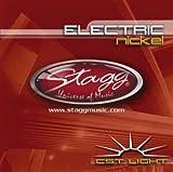 Stagg EL-0946 Nickel Plated Budget Jeu de cordes pour Guitare électrique 09-46