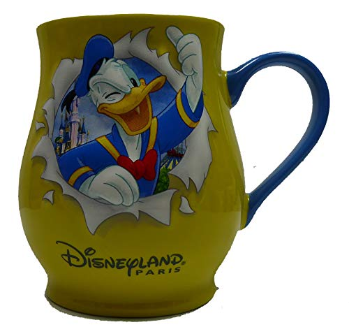 Donald Duck Disney Disneyland Paris Mug Kaffeetasse Tasse Pott Bauchtasse erhaben