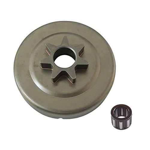 Jrl 7 dents 3/20,3 cm tambour d'embrayage Compatible pour Stihl 044 046 Ms460 tronçonneuses