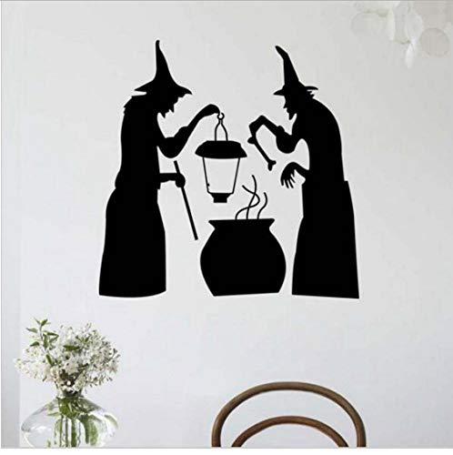 TOYP Halloween Skelett Muster Wandaufkleber Kunst entfernbaren Hintergrund dekoriert Home Vinyl Fenster Wandaufkleber Aufkleber Dekor sicher 58x58cm