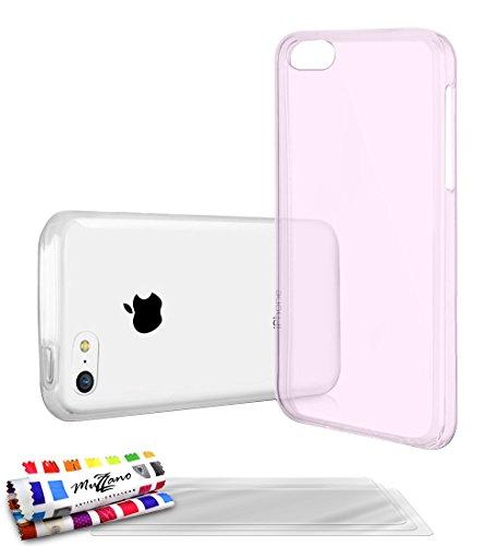 MUZZANO Flexible Schutzhülle Aquarelle Fall mit 3Ultra Clear Display Schutzfolie für Apple iPhone 5C–Pink