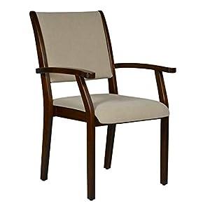 Devita – Seniorenstuhl Pflegestuhl Kerry – Verschiedene Sitzhöhen wählbar von 43 cm bis 55 cm (43 cm Sitzhöhe, Holz…