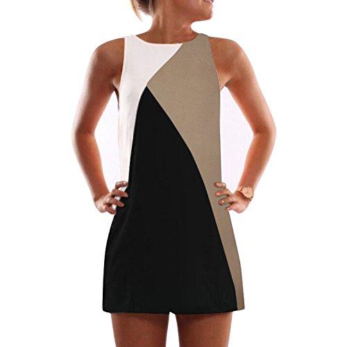 Elite99® - Robe - Trapèze - Femme Noir Noir Noir - Kaki