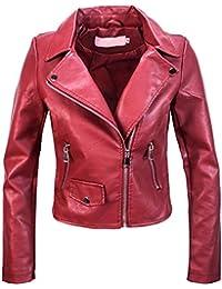Amazon.it  giacca rossa donna pelle - 4121325031  Abbigliamento b33d9eca185c