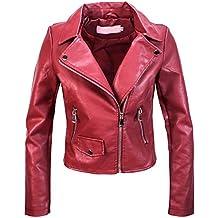 free shipping fa639 f3e22 Amazon.it: giacca pelle donna - Rosso