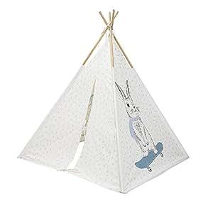 Bloomingville Tipi Kinderzelt, Blau-Weiß