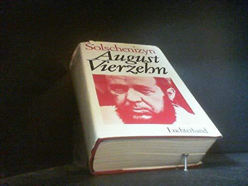 August Vierzehn. Roman