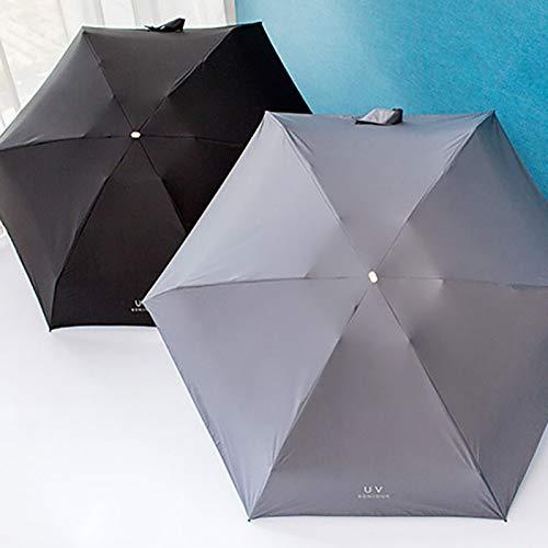 SHILILI 1 Stück Tasche Mini Regenschirm Regen Frauen Student Winddicht Langlebig 5 Klappsonnenschirme Tragbare Sonnencreme