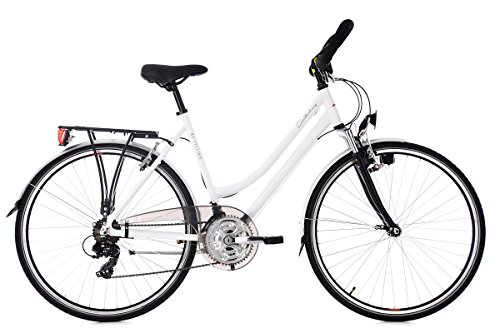 KS Cycling Damen Canterbury RH 54 cm Multipositionslenker Trekkingrad, Weiß, 28