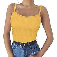 Camisetas sin Mangas Mujer,SHOBDW Moda De Verano Sólido Camisole Tops Tank Tops Chaleco De