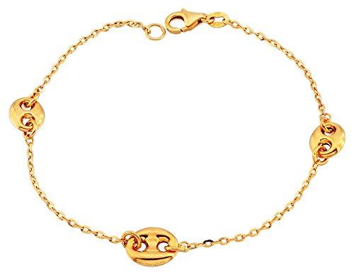 Orleo - REF7382 : Bracelet Femme Or 18K jaune - Grains de Café