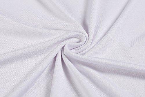 Tomasa Damen Klassisches Unterkleid knielang Riemen Slip ärmellose Neglige Unterrock Schlafkleid Miederkleid mit Trägern Weiß