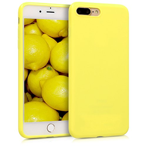 kwmobile Apple iPhone 7 Plus / 8 Plus Hülle - Handyhülle für Apple iPhone 7 Plus / 8 Plus - Handy Case in Pastellgelb matt