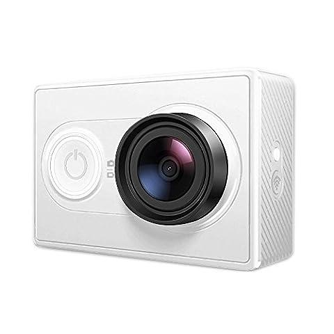YI Caméra d'action Ambarella processeur A7LS capteur 16 MP Full HD 1080/60fps WiFi et Bluetooth Connexion ( Edition Internationale) - Blanche