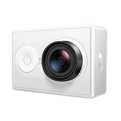 YI Action Camera 16MP HD Sport Camera, 1080P/60fps 720P/30fps ,155 Wide Angle Sony Sensor, WiFi and Bluetooth (blanc)
