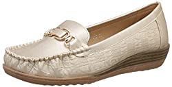 Addons Womens Gold Loafers and Mocassinss - 5 UK/India (38 EU)