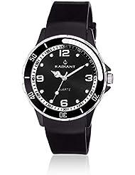 Radiant RA151601 - Reloj con correa de piel para mujer, color negro / gris