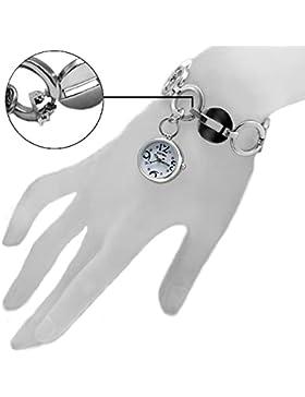 10fw605e natürlichen PNP Glänzendes Silber Watchcase weiß Zifferblatt Damen Frauen Armband Armbanduhr