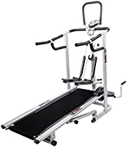 Lifeline 4 in 1 deluxe manual treadmill with twister, Stepper & 3 Level inclinat