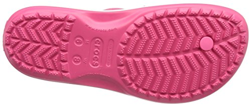 Crocs Crocband Flip Flop, Pink (Paradise Pinkwhite), 5 Uk Women 4 Uk Men (7 Us Women 5 Us Men)