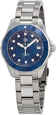 Tag Heuer Aquaracer Blue Mother of Pearl Diamond Ladies Watch WAY131L.BA0748