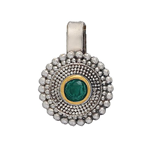 Jaipur Mart Oxidised Silver Plated Attractive Green, Blue, Pink Nose Pin Jewellery Gift For Her, Girl, Women, Mother, Sister, Girlfriend