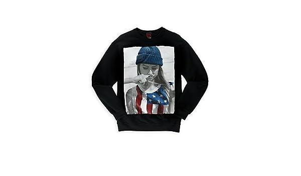 Tony Hawk Mens Mustache Girl Fleece Sweatshirt