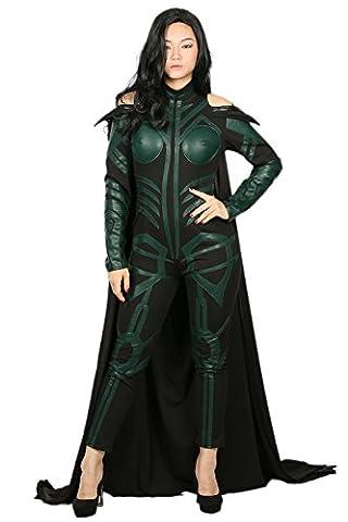 Hela Cosplay Costume Femmes Tenue Suit Combinaison avec Cap Adulte Halloween PU Romper Déguisement Vêtements