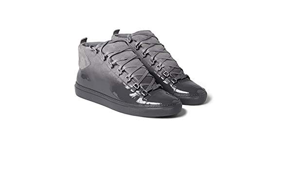 81cec3a317b0 Balenciaga Arena Glossed-Suede High Top Sneakers  Amazon.co.uk  Shoes   Bags