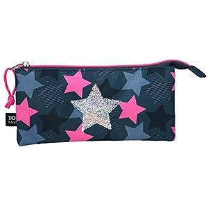 Depesche Estuche 10411 TopModel con Estrella de Lentejuelas para abanicos, Aprox. 23 x 12 x 4 cm, Multicolor