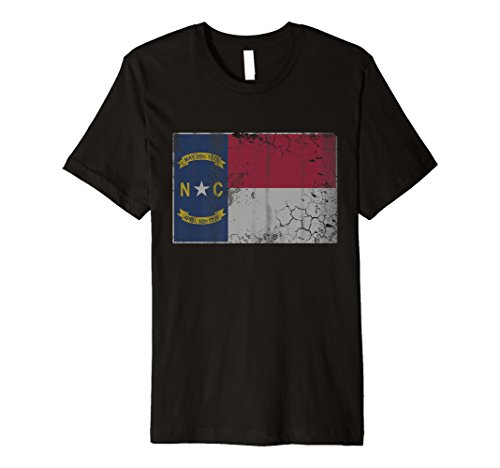 Vintage State Flagge von North Carolina Shirt