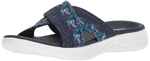 Skechers On The Go 600-Monarch, Sandali con Plateau Donna, Blu (Navy), 39 EU