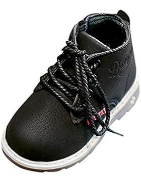 Igemy 1Paar Kinder Mode Jungen Mädchen Martin Sneaker Stiefel schnüren sich oben Kinderbaby beiläufig Schuhe