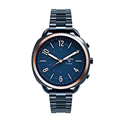 Fossil Q Accomplice Navy Blue Stainless Steel | Analogue Women's Hybrid Smartwatch Android & Ios Compatible | Bluetooth Technology - Activity & Sleep Tracking, Smartphone Notifications