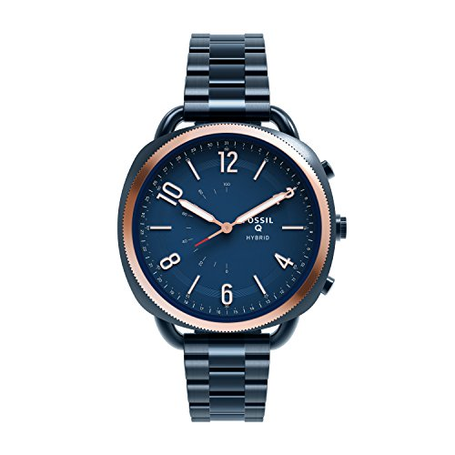 FOSSIL Q Accomplice Navy Blue Stainless SteelAnalogue Womens Hybrid Smartwatch Android And IOS CompatibleBluetooth Technology Activity And Sleep Tracking Smartphone Notifications