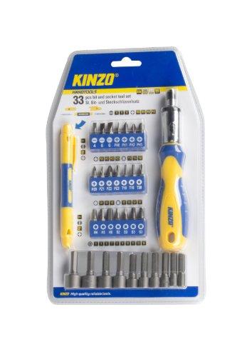 KINZO Bit und Socket Tool Set 33 Stück, 54202