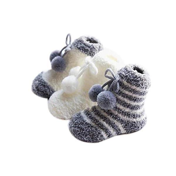 gensit Calcetines de piso para niños pequeños Calcetines antideslizantes de terciopelo de coral Calcetines 1