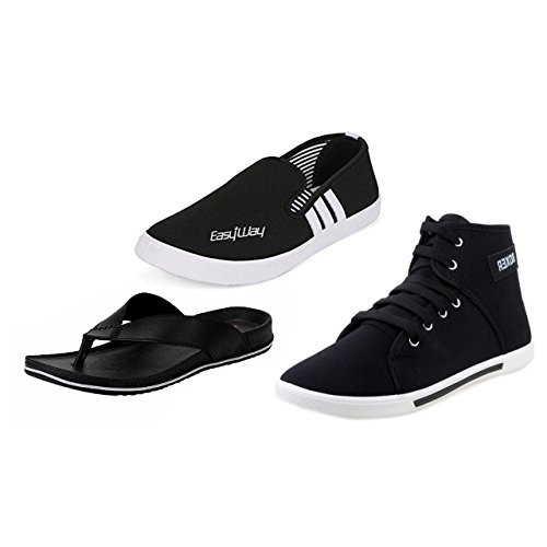 Aircum 299-200-300-500-499 Men's Combo Of Loafer, Slipper & Casual Shoes  available at amazon for Rs.1299