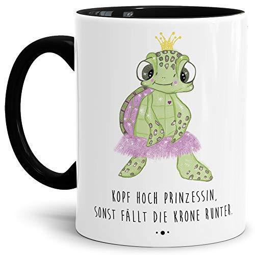 Tassendruck Schildkröte-Tasse mit Spruch Kopf hoch Prinzessin - Kaffeetasse/Mug / Cup/Prinzessin /...