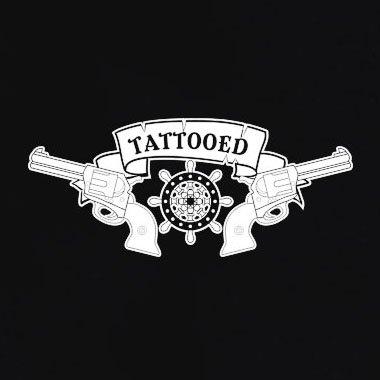 TEXLAB - Tattooed - Langarm T-Shirt Schwarz