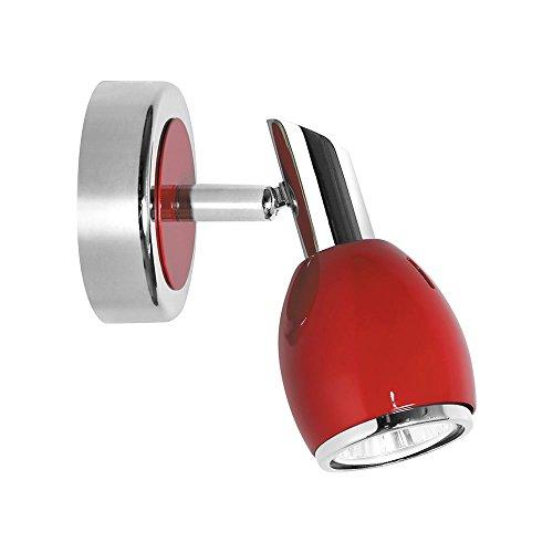 led-lmpara-de-pared-colors-foco-de-techo-1-gu10-45w-color-rojo-cromo-eficiencia-energtica-a-