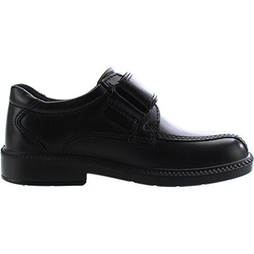 Ecco Dublin Black Leather Infant School Shoes Black