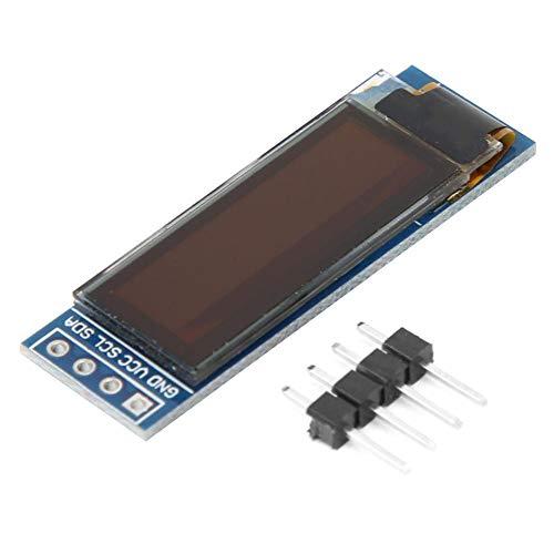0,91 Zoll OLED-Anzeigemodul OLED-Bildschirmtreiber IIC-Schnittstelle 128 x 32 Weiß/Blau-Anzeigemodul 3,3~5 V(blue)