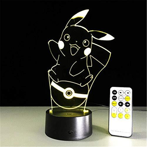 Iluminación nocturna Pokemon serie 3D luz nocturna toque...