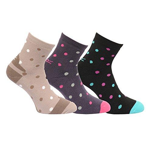 Regatta Damen Modell Active Lifestyle Walking Socken (3-Packung) (39–41/Hafer/Schwarz/Blau)