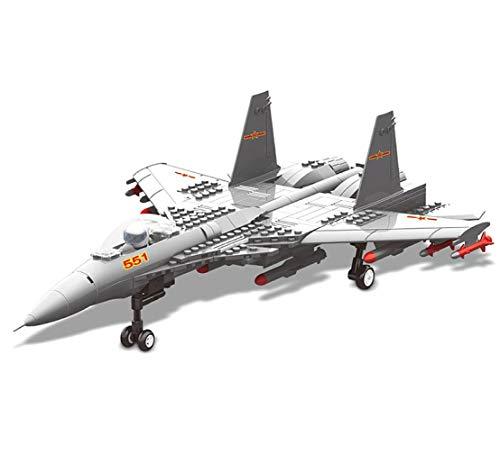 WANGE Maqueta de J-15. Modelo de avión de Ataque para armar con Bloques. Aeromodelismo 1:54.