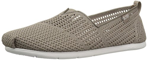 SkechersPlush Lite Be Cool - Sandali con Zeppa donna Taupe