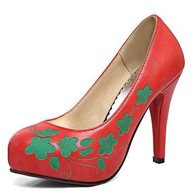 Zormey Women'S Shoes Stiletto Heel Runder Plattform Prining Schlupf An Der Pumpe Mehr Farbe Verfügbar US8 / EU39 / UK6 / CN39