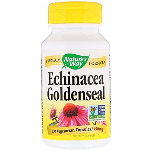 Nature's Way, Echinacea Goldenseal 450 mg, 100 Kapseln -